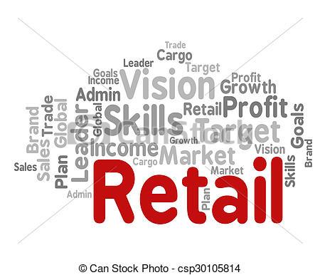 Market clipart word Market csp30105814 Represents Retail Represents