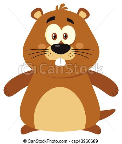 Marmot clipart Cartoon Character Flat Illustration Marmot