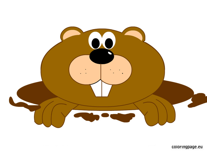 Marmot clipart Day Marmot Page Groundhog Coloring