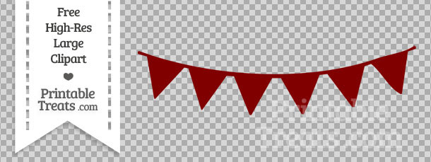 Maroon clipart banner Banner Clipart com Bunting Printable