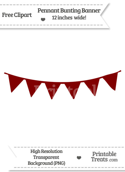 Maroon clipart banner Com Banner Pennant — Bunting