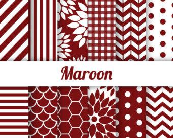 Maroon clipart chevron Paper Scallop Dahlia OFF Dots