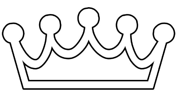 Queen clipart outline #15