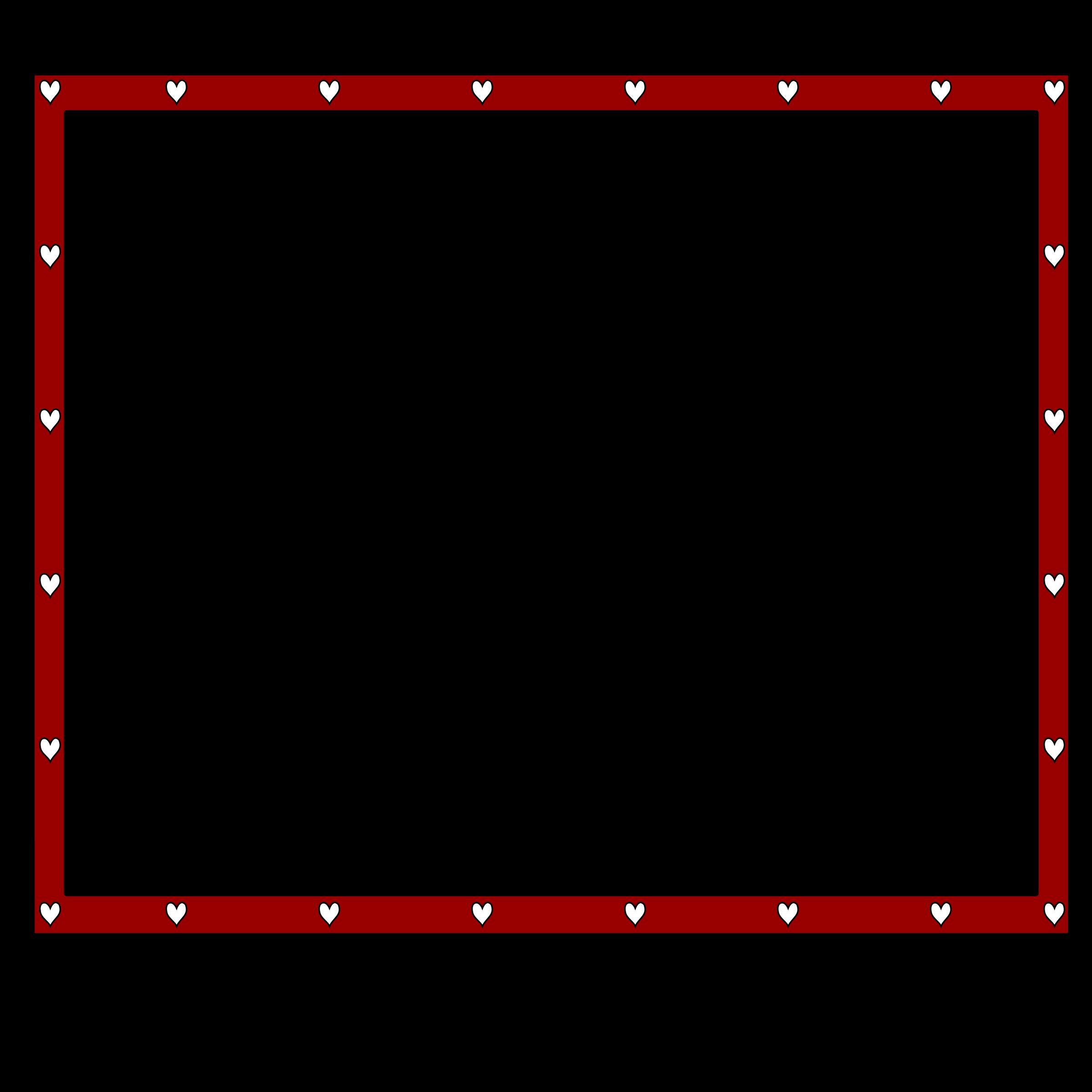 Maroon clipart frame RedBlack hearts4x3 hearts4x3 border redBlack