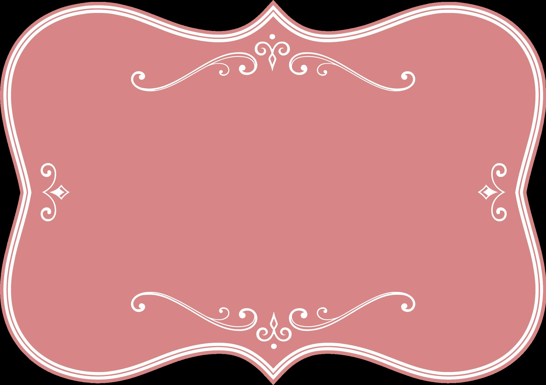 Maroon clipart frame Pink Flourish Flourish Decorative Pink