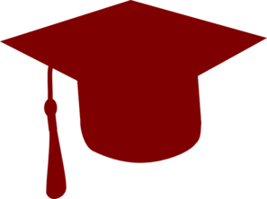 Graduation clipart maroon Vector Crimson Clip  Cap