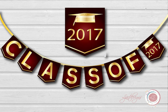 Maroon clipart graduation  and Gold Class Graduation