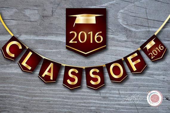 Maroon clipart graduation 2015 Graduation Gold Ljartdesigns and