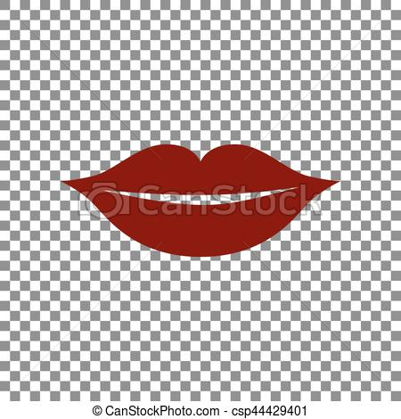 Maroon clipart lips Icon of illustration sign Lips