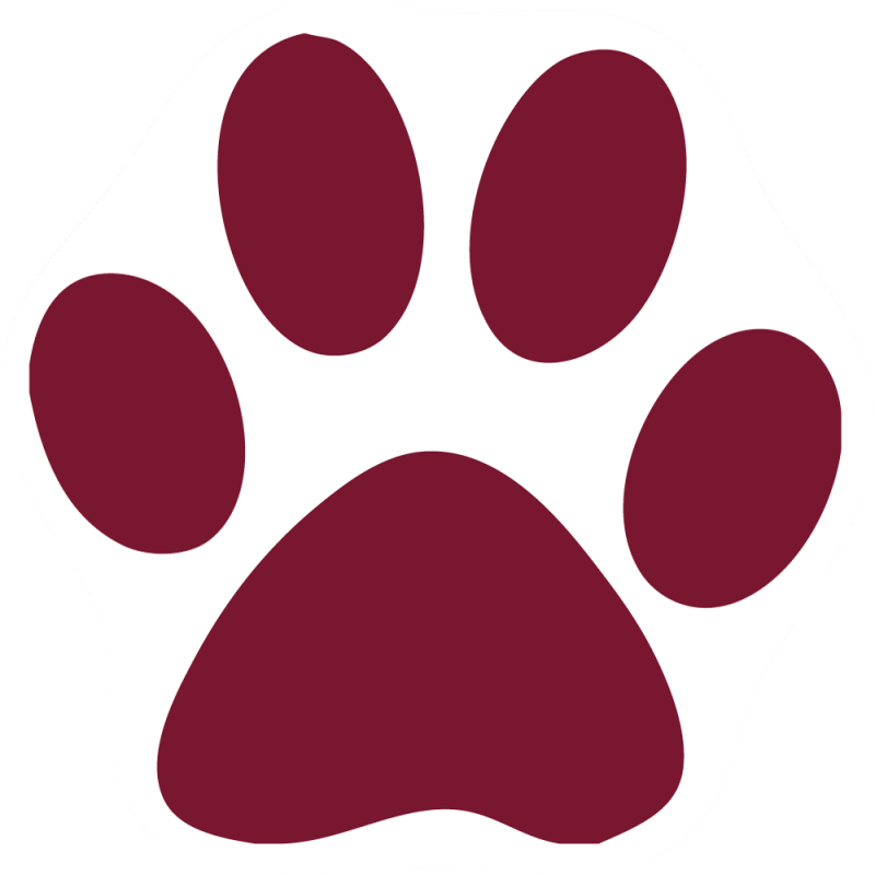 Wildcat clipart paw print Create Paw Custom Magnet Your