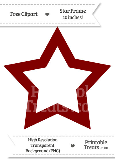 Maroon clipart star Star Clipart Frame Maroon PrintableTreats