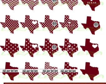 Maroon clipart texas Frames Texas OFF Texas Etsy