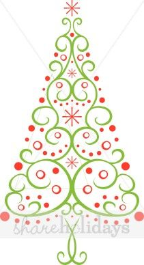 Drawn christmas ornaments abstract Collection clipart Tree Clip and