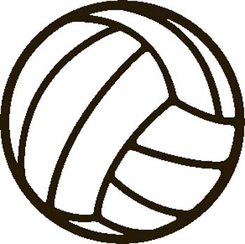 Simple clipart volleyball #2