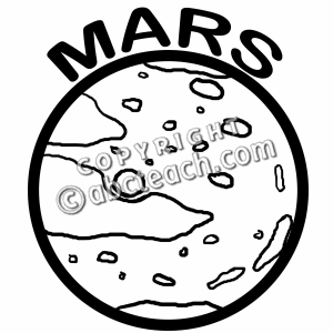 Mars clipart black and white – Clip White Art and
