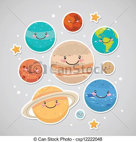 Mars clipart cute Csp12222048 Cute neptune sticker