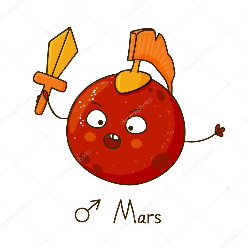Mars clipart cute Isolated Stock Cute cartoon #93909850