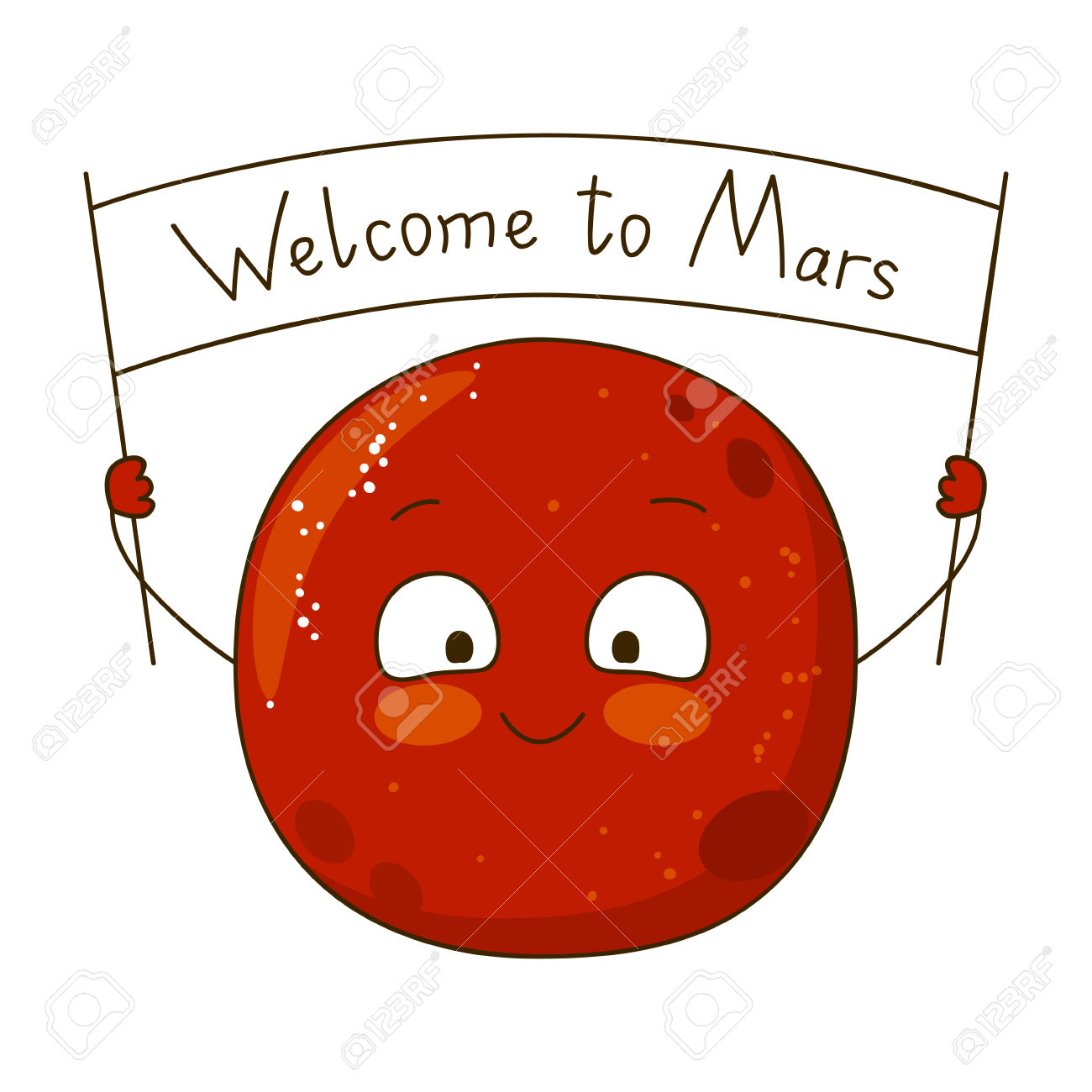 Mars clipart cute  emaze on and to