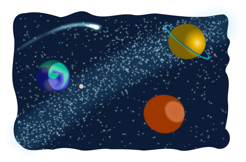 Cosmic clipart free space  Free space objects clipart