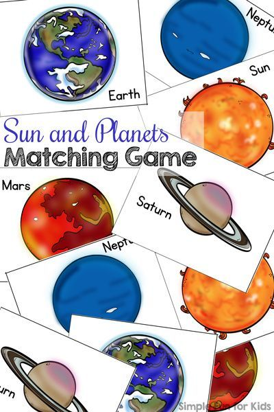 Mars clipart kindergarten science Matching Planets Game images fascinated
