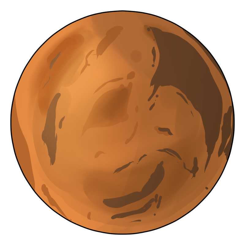 Mars clipart mars planet Clip Mars  on Art