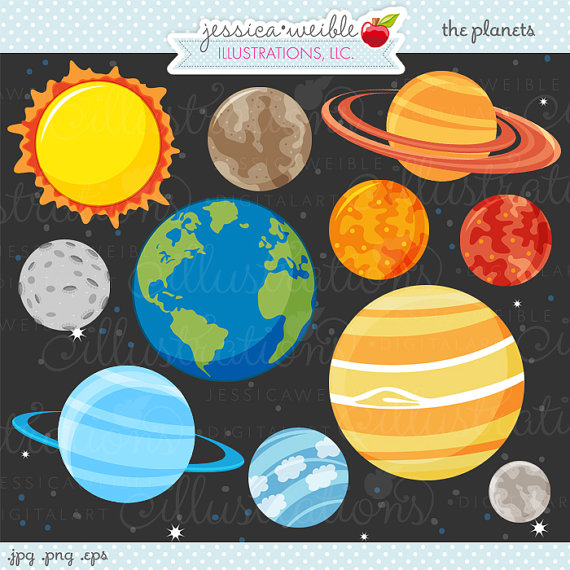 Space clipart solar system #4