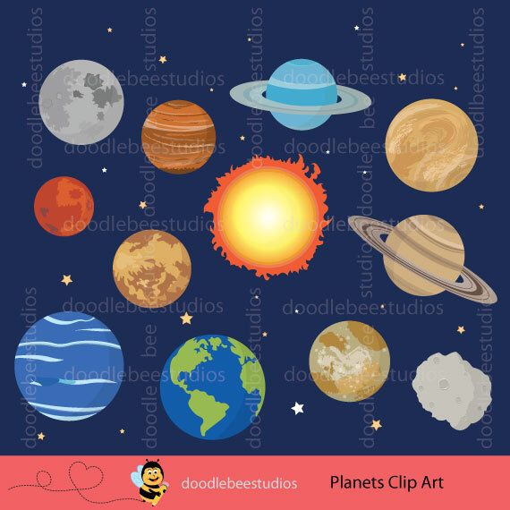 Science clipart outer space On clipart Clip system Planets