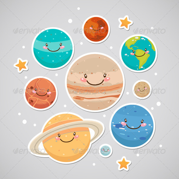 Mars clipart pluto planet And 13 Stickers Stickers Planet