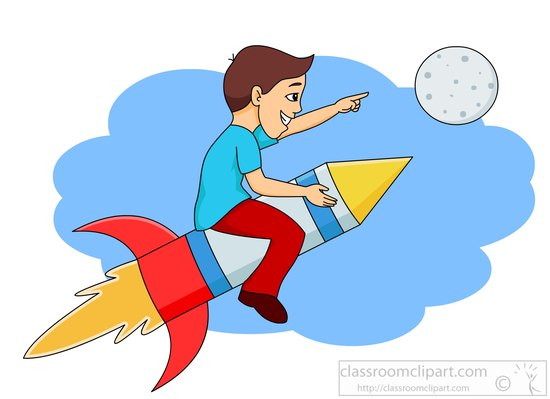 Moon clipart space #11