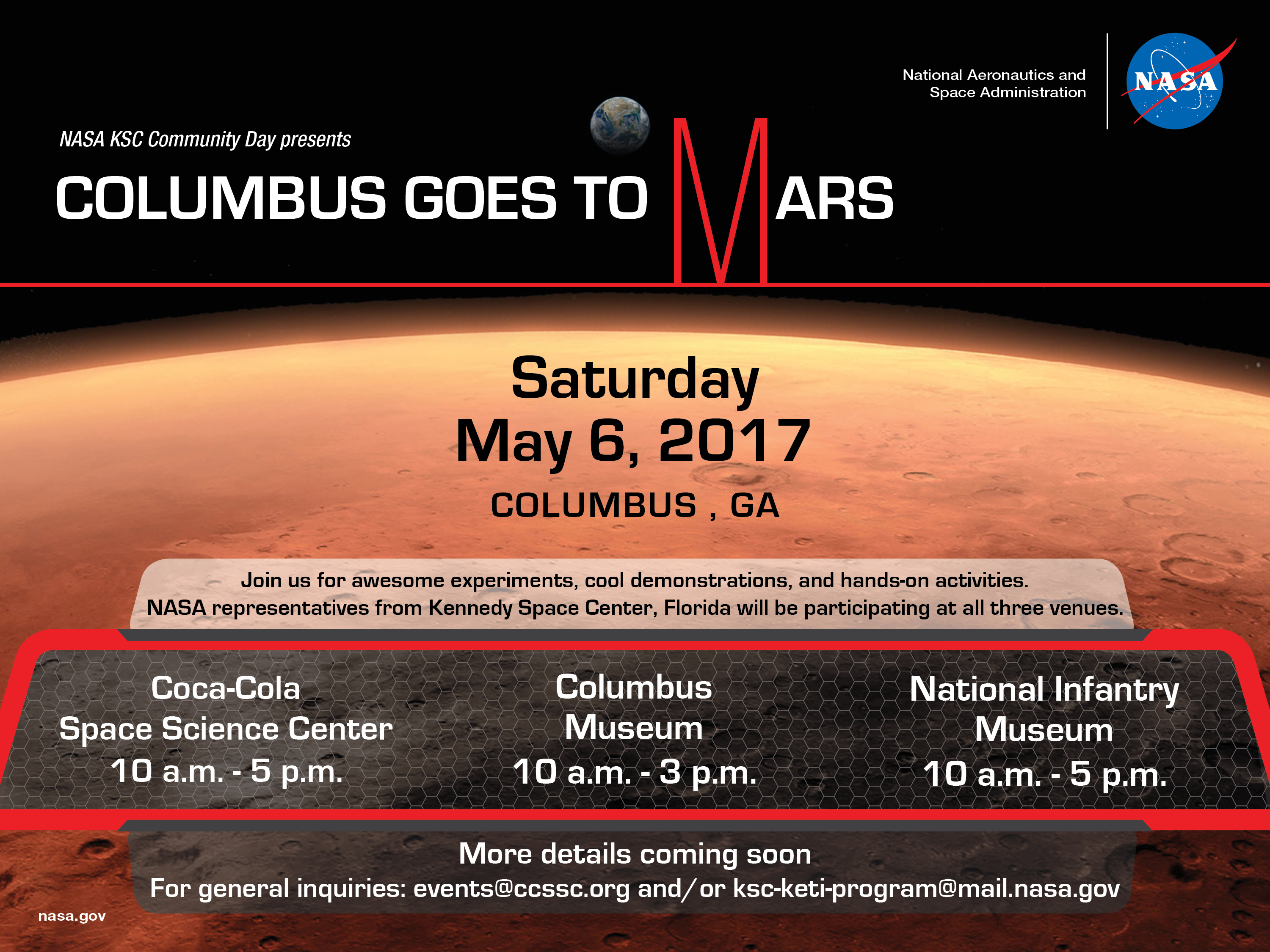 Mars clipart science center Mars Columbus to in GA