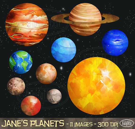Planet clipart science collage System Planets Pinterest Mars Solar