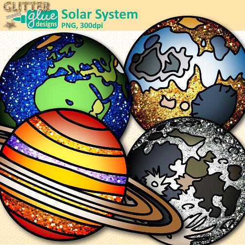 Mars clipart solar system Clip Art Teacher Clip Glitter