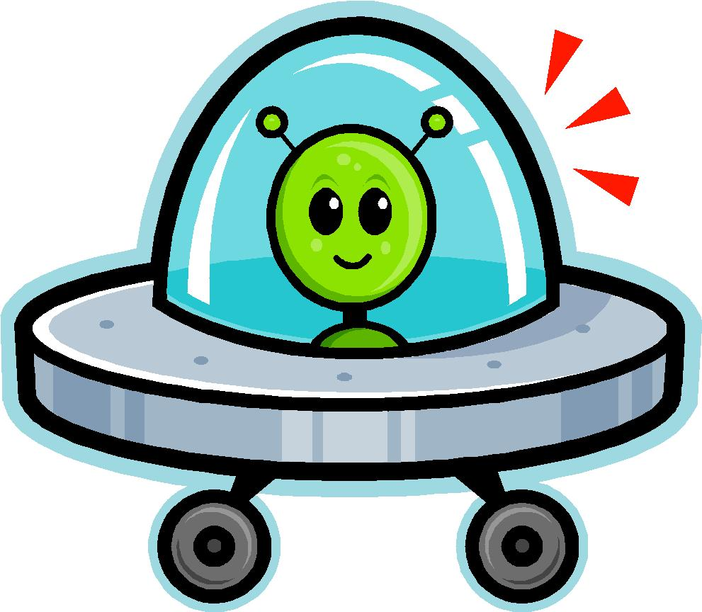 Sci Fi clipart cute alien spaceship #2