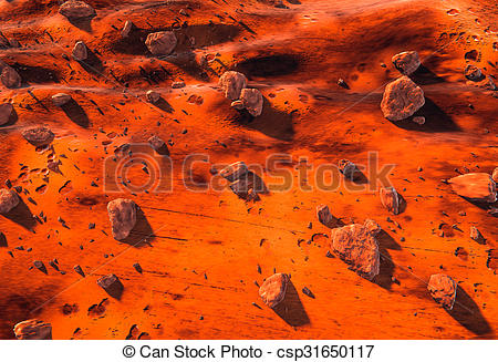 Mars clipart surface  Mars rocks of surface