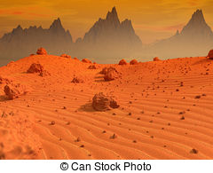 Mars clipart surface Landscape rocky of planet Mars