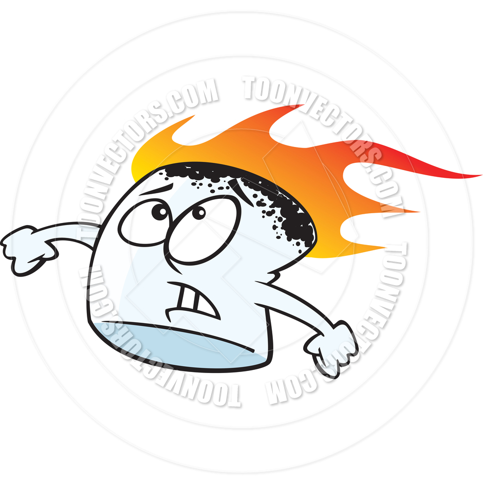 Marshmellow clipart cartoon Clipart  Marshmallow Burning