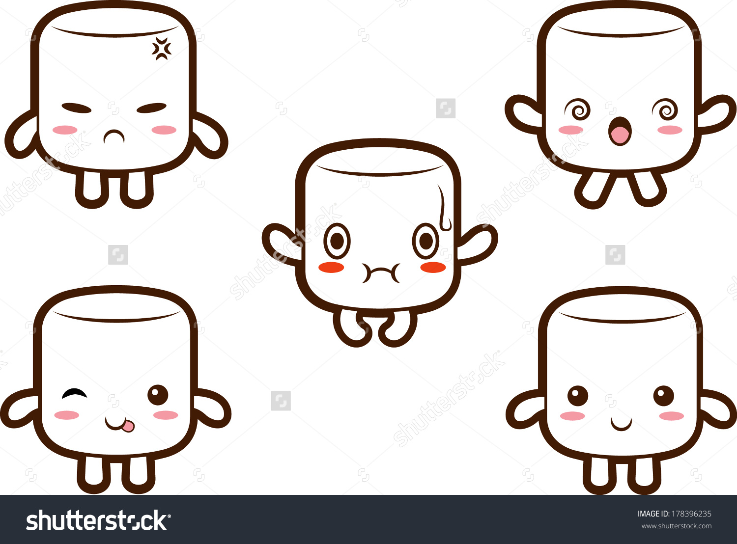 Marshmellow clipart cartoon Marshmallow Cute clipart clipart marshmallow