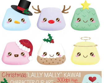 Marshmellow clipart kawaii Etsy Marshmallow Download Clip High