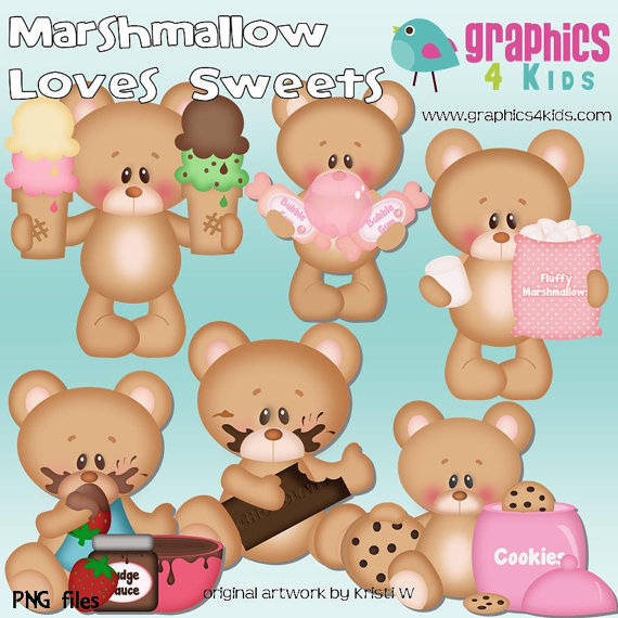 Marshmellow clipart sweet Clip for Use sweet Etsy