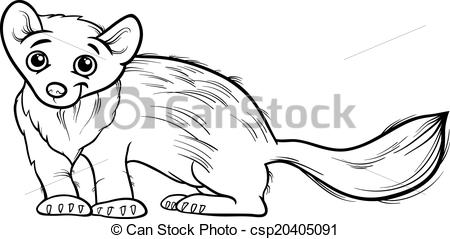 Marten clipart Of cartoon animal Vectors marten
