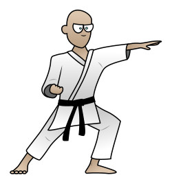 Martial Arts clipart animated Karate karate a man Drawing