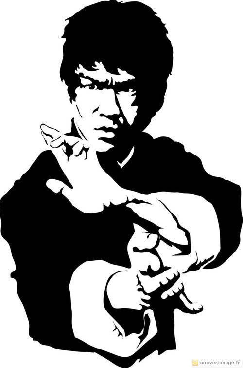 Actor clipart bruce lee Bruce ConvertImage practicing white Best