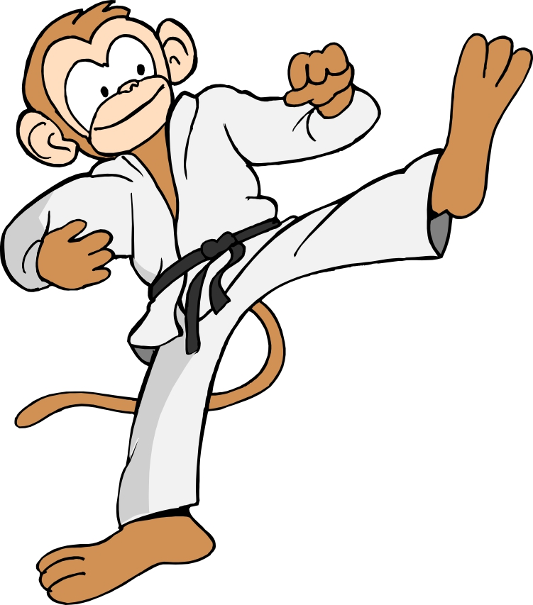 Martial Arts clipart cartoon Arts Monkey Mascot martial Karate