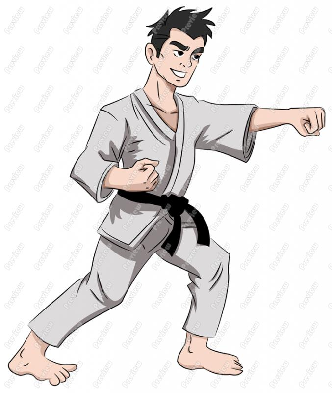 Martial Arts clipart cartoon Cartoon Free Karate Clipart Clip
