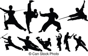 Martial Arts clipart fighting position 791 Kungfu EPS  Illustrations