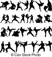 Martial Arts clipart fighting position Royalty and Martial Karate Arts