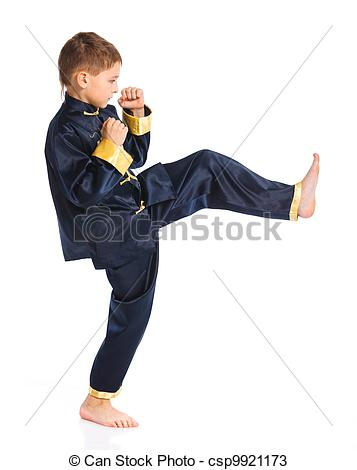 Martial Arts clipart fighting position Boy csp9921173 in Aikido kimono