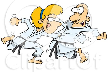 Martial Arts clipart fist punching Girl Martial Clipart Arts UK