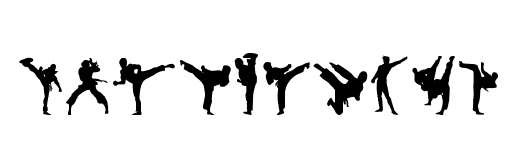Martial Arts clipart karate chop Be all by font may