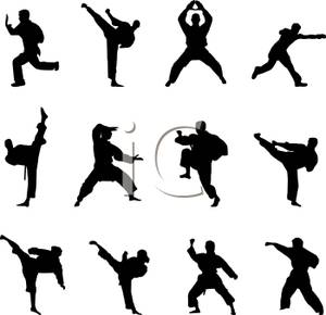 Martial Arts clipart karate chop Picture Arts Clipart Royalty Silhouette